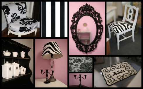 Black and White Decor at The Fancy Shack